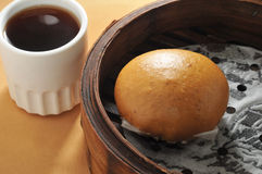 Lotus paste bun Stock Images