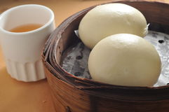 Lotus paste bun Stock Image