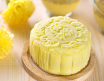 Lotus paste snow skin mooncake Royalty Free Stock Photos