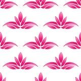 Lotus-patroonachtergrond naadloos vector illustratie