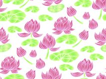 Lotus pattern3 διανυσματική απεικόνιση