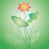 Lotus pattern Royalty Free Stock Photography