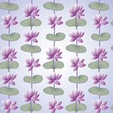 Lotus pattern. Including seamless sample in swatch panel (Illustrator Royalty Free Stock Photos