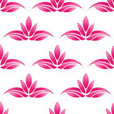 Lotus pattern background.Seamless Stock Image