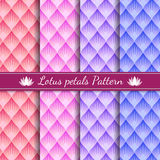 Lotus petals abstract pattern background 4 tone color Royalty Free Stock Image