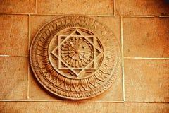 Lotus Petals in pietra Fotografia Stock Libera da Diritti