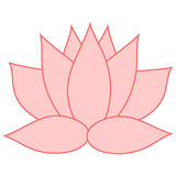 Lotus. The pink flower is a symbol of purity and enlightenment. You can use as a logo, trademark, icon. Suitable for illustrating Royalty Free Stock Photography