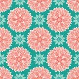 Lotus planlägger blom- mandalas i en modern färgrik elegant stil Sömlös vektorrepetitionmodell royaltyfri illustrationer