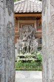 Lotus pond and Pura Saraswati temple in Ubud, Bali Royalty Free Stock Images