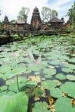 Lotus pond and Pura Saraswati temple in Ubud, Bali Royalty Free Stock Photo