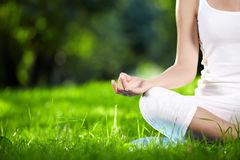 Lotus Pose Stock Images