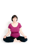 Lotus pose Stock Image