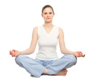 Lotus pose Stock Photography