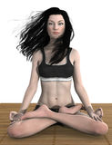 Lotus pose meditation isolated Stock Image