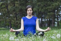 Lotus Pose Royalty Free Stock Photo