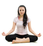 Lotus pose yoga Royalty Free Stock Photography