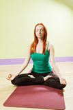 Lotus poserar meditation Royaltyfri Fotografi