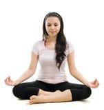 Lotus poserar yoga Royaltyfri Fotografi