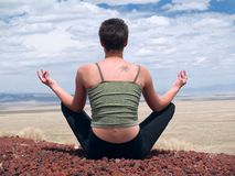 Lotus position Royalty Free Stock Photography