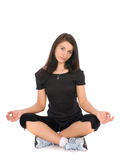 Lotus position Royalty Free Stock Image