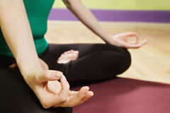 Lotus position detail Stock Photography