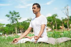 In lotus position Royalty Free Stock Photography