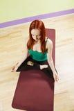 Lotus position meditation Stock Photo