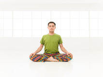 Lotus position studio Royalty Free Stock Photos