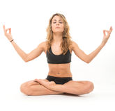 Lotus position Stock Photo