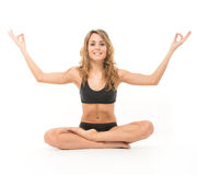 Lotus position Royalty Free Stock Photo