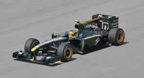 Lotus Racing driver Fairuz Fauzy of Malaysia Stock Images