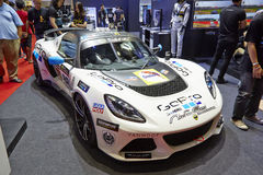 Lotus racing modifications car by gopro on display at The 36 th Stock Image