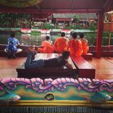 Lotus Receiving Festival - tradition av lokalt folk i Samutprakran i Samutprakran, Thailand arkivbild