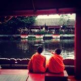 Lotus Receiving Festival - tradition av lokalt folk i Samutprakran i Samutprakran, Thailand royaltyfri fotografi