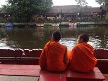 Lotus Receiving Festival - Tradition von lokalen Leuten in Samutprakran in Samutprakran, Thailand Lizenzfreies Stockbild