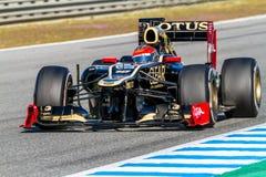Lotus ομάδας Renault F1, Ρομάν Grosjean, 2012 Στοκ Εικόνες