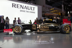Lotus Renault F1 Car - Geneva Motor Show 2011 Stock Photography