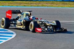 Lotus Renault F1, Kimi Raikkonen, 2012 d'équipe Photos libres de droits