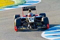 Lotus Renault F1, Kimi Raikkonen, 2012 d'équipe Photographie stock