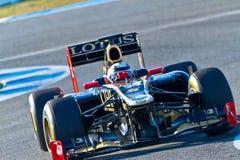 Lotus Renault F1, Kimi Raikkonen, 2012 d'équipe Photo stock