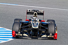 Lotus Renault F1, Kimi Raikkonen, 2012 d'équipe Photos stock