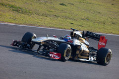 Lotus Renault F1, Vitaly Petrov, 2011 d'équipe Images stock