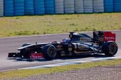 Lotus Renault F1, Vitaly Petrov, 2011 d'équipe Photos stock