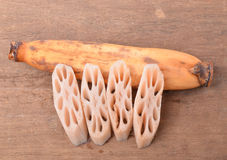 Lotus root on background Stock Photo