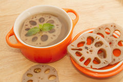 Lotus root dessert,natural herb Royalty Free Stock Photos