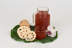 Lotus Root Juice. Stock Images