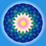 Lotus rundamandala Royaltyfri Bild