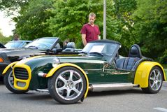 1964 Lotus 7 S2. 1964 Loutus 7 S2 at the 2014 St. Joseph, Michigan car show Royalty Free Stock Images