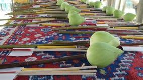 Lotus sagrado para la adoración budista Foto de archivo libre de regalías
