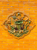 Lotus-Schnitzen Lizenzfreie Stockbilder